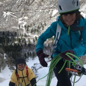 Hank Bilous - a break from the FWT to go ice climbing with Aunty Anna
